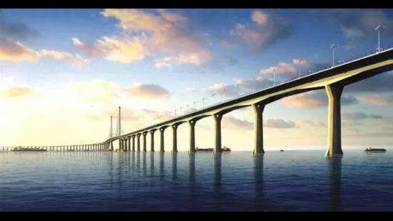 Самая протяженная в мире конструкция через морской залив – мост Сянган-Чжухай-Аомэнь
