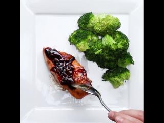 Сёмга в имбирно-соевом соусе
