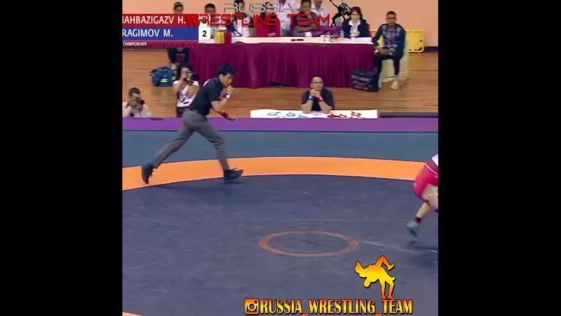 Магомед Ибрагимов (UZB) vs. Хоссейн Шахбазигазвар (IRI) Финал чемпионата Азии