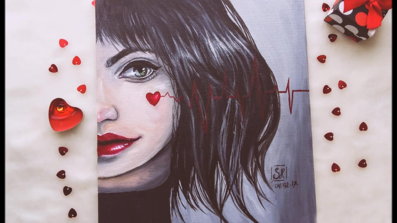 OILPAINTING TIME LAPSE || Heartbeat by scarlet heath