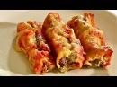 Cannelloni mit Rinderhack Füllung Cannelloni mit Hackfleisch Tomatensauce und Bechamelsauce