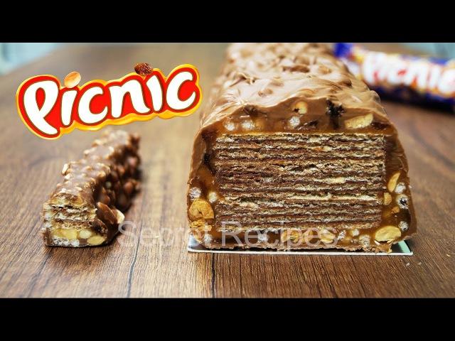 Гигантский Пикник. Как сделать огромный батончик Picnic конкурс на 6 кг сладостей   Giant Picnic