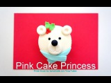 Christmas cupcakes - How-to Make a Polar Bear Cupcake