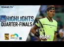 МАЙАМИ.АТР.1/4. (Highlights: Nadal, Fognini Prevail In Miami 2017 Quarter-Finals)