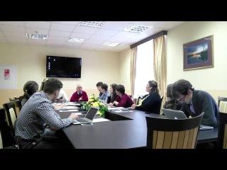 Зазнобин В М  2014 04 23   Краткая беседа с норвежской молодёжью в Петрозаводске