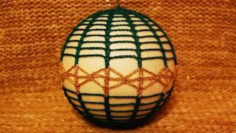Bombka na szydełku - ozdoby choinkowe