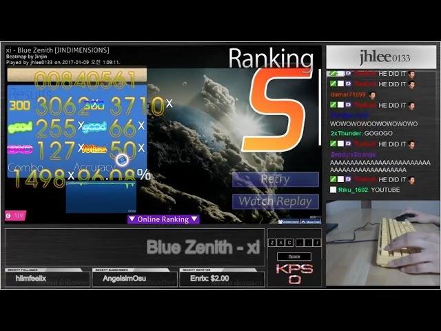 ★16.12 Blue Zenith [JINDIMENSIONS] 96.08% S - osu!mania