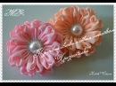 Большие цветки с новым лепестком Хризантемка /Красивые резиночки на хвостик/New petal/D.I.Y