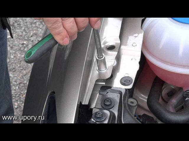 Установка амортизаторов (упоров) капота Volkswagen Polo (арт. KU-VW-PL00-02) от upory.ru