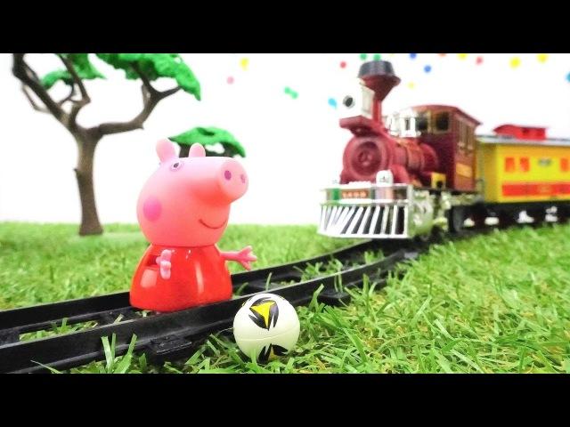 Türkçeizle. Peppa Pig oyuncakları. Peppa Pig tehlikede!