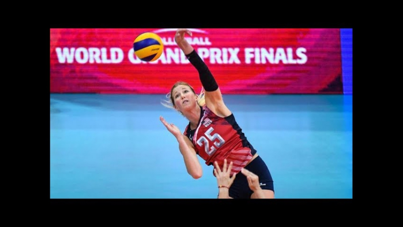 Top 10 BEST Volleball Spikes by Karsta Lowe - USA Volleyball