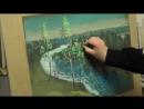 Картина- Река жизни ,пастель, Андрей Кулагин