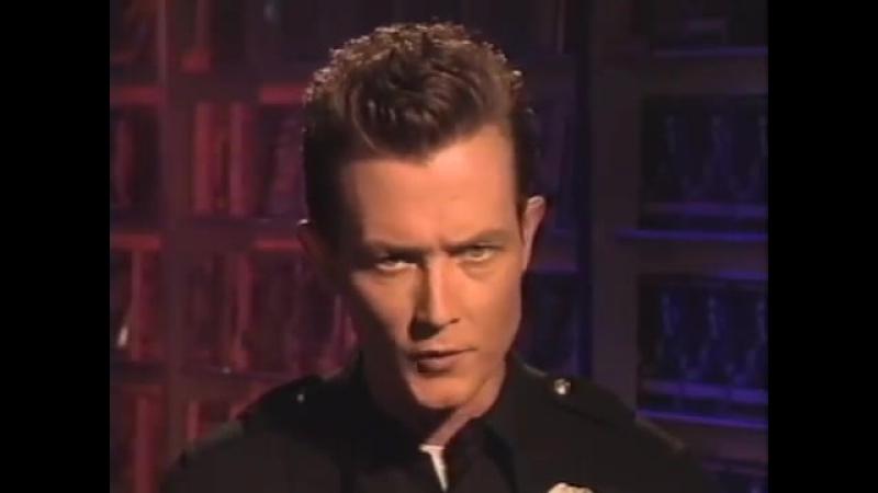 Robert Patrick promotes Terminator 2 (VHS).