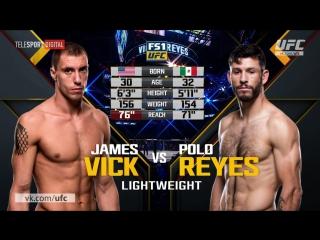 UFC-211 Поло Рейес vs Джеймс Вик полный бой