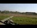 Выстрел танка Т-72 штатным снарядом