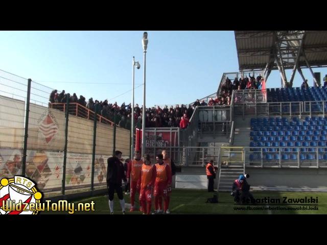 Pogoń Siedlce 0:1 Widzew Łódź (26\10\2014) [Doping Kibicow Widzewa]