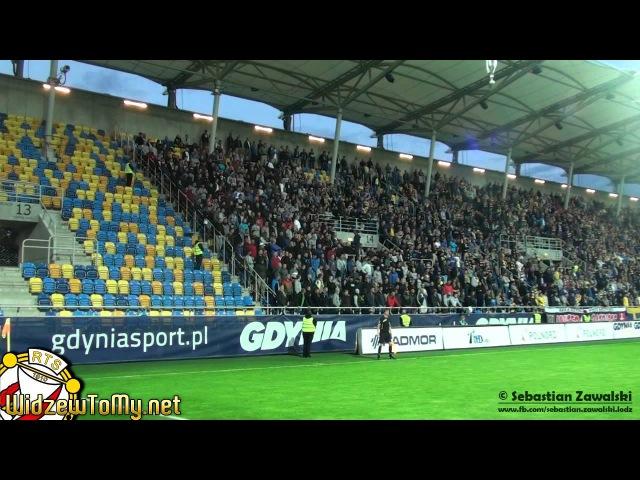 Arka Gdynia 1:2 Widzew Łódź (26\08\2014) |Doping Kibicow Widzewa|