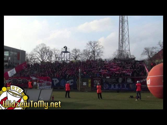Pogoń Szczecin 1:1 Widzew Łódź (12\04\2013) [Doping Kibicow Widzewa]