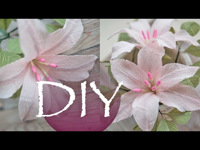 Лилия из гофрированной бумаги цветы из бумаги DIY Tsvoric Corrugated paper lilies