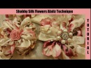 Silk Flower, no sew, shabby chic tutorial, melting, (synthetic silk) singed artificial flower