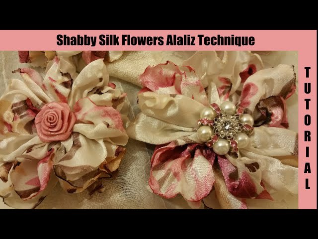 Silk Flower, no sew, shabby chic tutorial, melting (have learned this is a synthetic silk)