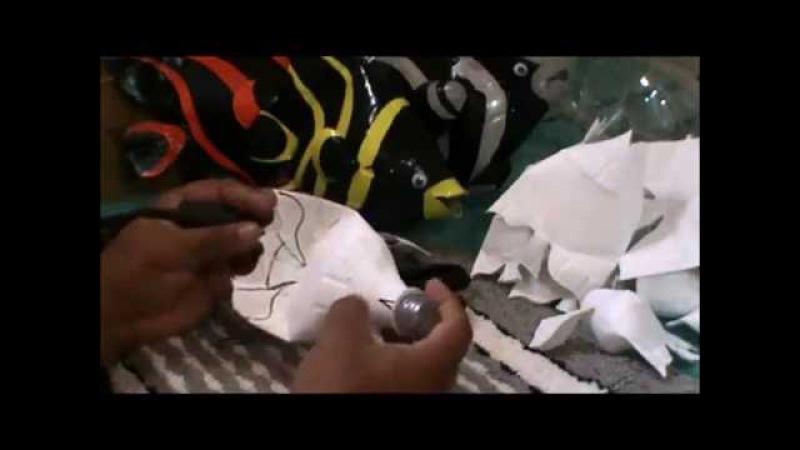 Peixe Borboleta com Garrafa Pet PARTE 1 Handcraft Brasil