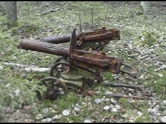 Раскопки четырех пулеметов МАКСИМ Сундучок дедушки Ганса и множества других интересных трофеев ВОВ