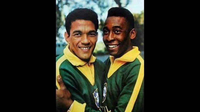 Король и воробей. Пеле и Гарринча - герои футбола.