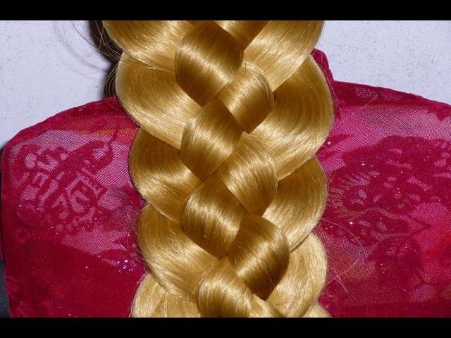 Косичка из 5 прядей Самый простой способ научиться ЛЁГКО ДОСТУПНО Причёски на каждый день в школу