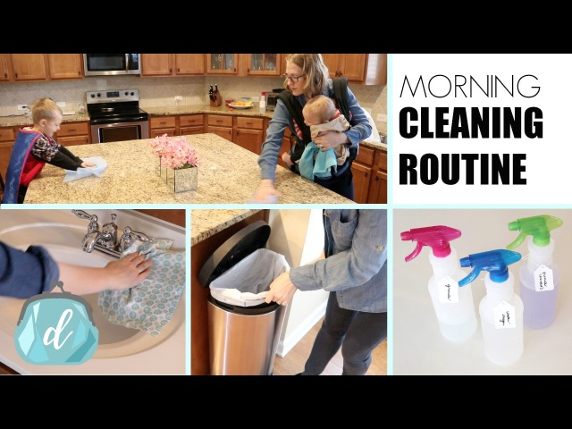 MORNING CLEANING ROUTINE 💚 Dollar Tree Products!
