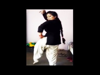 Punjabi dance by young college girl - Must Watch