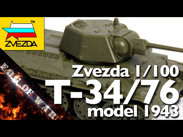 Review | Zvezda T-34/76 obr 1943 1/100 (15mm) | Flames of War