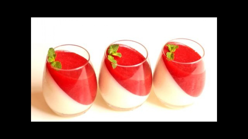 Как приготовить ванильную ПАННА КОТТУ с ЯГОДНЫМ ЖЕЛЕ | Panna cotta