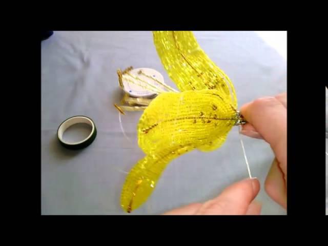 Жёлтая лилия из бисера.Часть 5 - Сборка