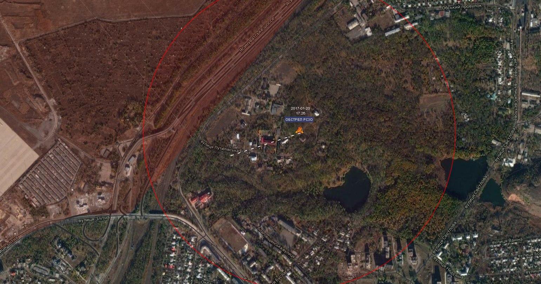 Карта попаданий луганск со спутника