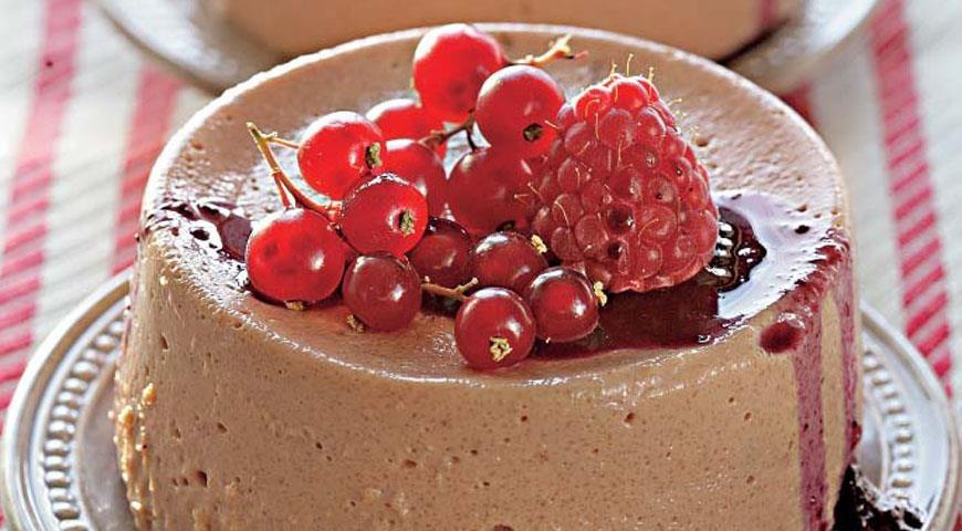 Пудинг шоколадный манкой рецепт с фото