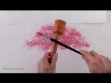 Акварель - интересный способ рисования листвы на дереве