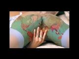 Body art. Woman. Body painting. Боди арт женского тела. Интимная зона.