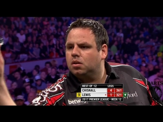 Dave Chisnall vs Adrian Lewis (2017 Premier League Darts / Week 12)