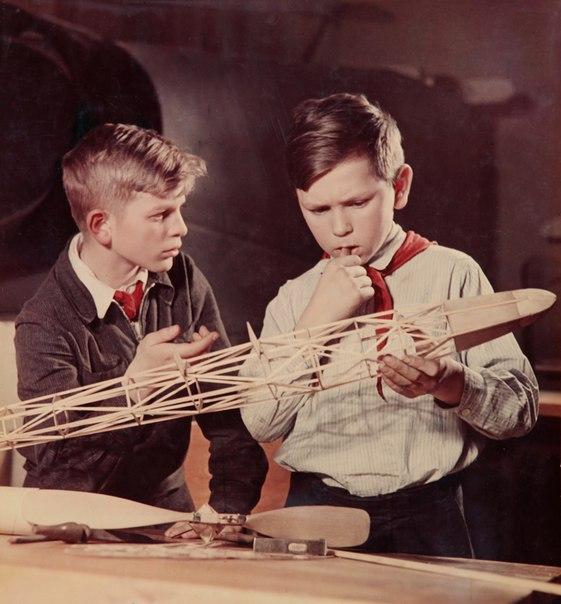 Авиамоделисты. 1950