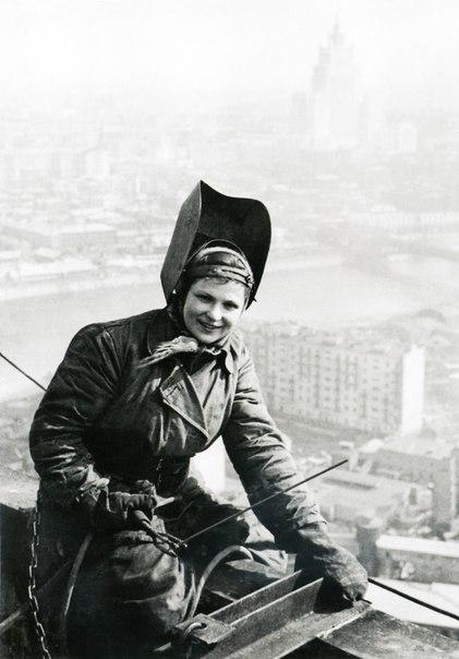 На крыше гостиницы Украина. 1953