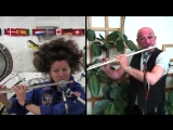Ian Anderson &amp Cady Coleman. Flute duet in space