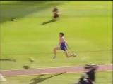 Jonathan Edwards World record during the World Championships (Gothenburg 1995) 18,29