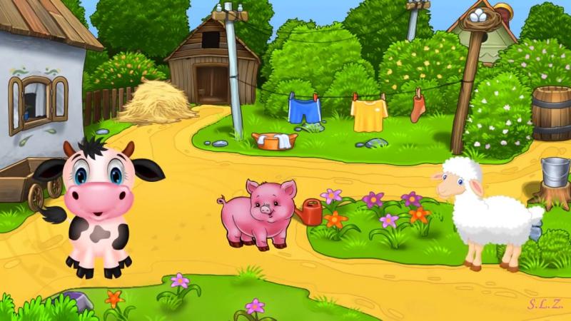 Страна Детства - Есть у нас лошадка игогошка (Песенка про животных для самых маленьких)