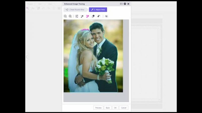 ScanNCut ScanNCutCanvas: Enhanced Image Tracing : Adjusting the Tracing Area