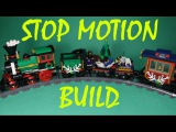 LEGO CREATOR - WINTER HOLIDAY TRAIN, 10254 - STOP MOTION BUILD.