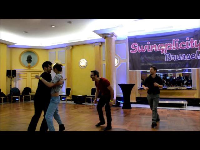 Swingplicity Brussels 2017 Emeline Rochefeuille her men Maxence Stanley Sven