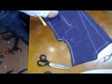 Осноровка мужского пиджака, после первой примерки.