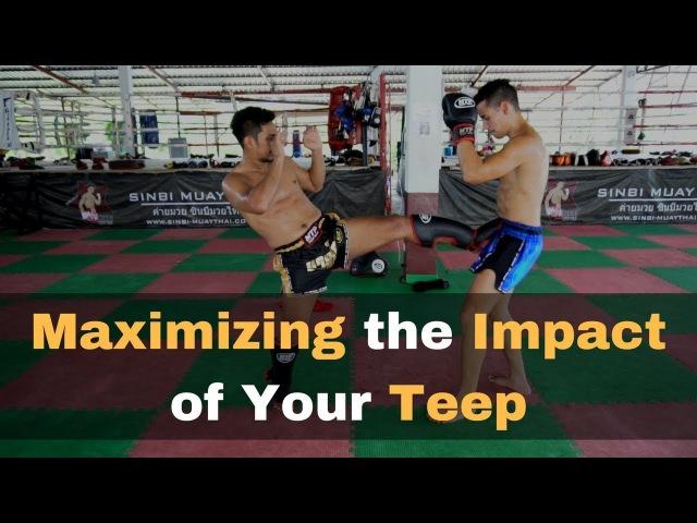 Обучение прямому удару ногой