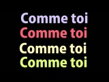 Jean-Jacques Goldman - Comme Toi (lyrics)